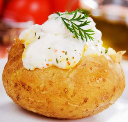 Kartoffeln Gebacken Mit Schale Lebensmittel Warenkunde